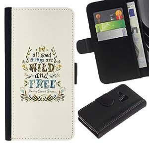 A-type (Viento Libre Good Things guirnalda azul) Colorida Impresión Funda Cuero Monedero Caja Bolsa Cubierta Caja Piel Card Slots Para Samsung Galaxy S3 MINI 8190 (NOT S3)