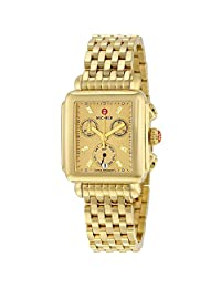 Michele Deco Gold-plated Stainless Steel Ladies Watch MWW06P000244