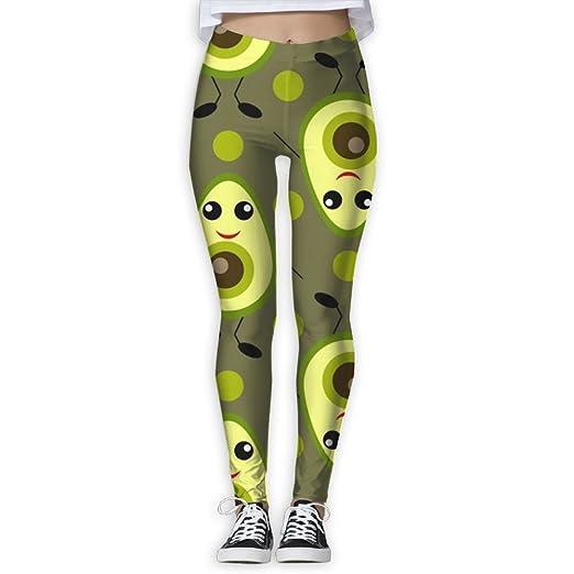 592ce2ea878fc Doppyee Avocado Cartoon Printing Compression Leggings Pants Tights For  Women S-XL at Amazon Women s Clothing store