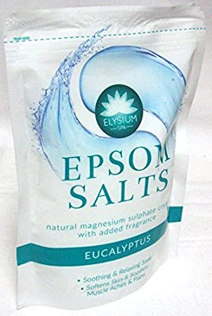 Elysium SPA Epsom SALES DE BAÑO NATURAL Sulfato De Magnesio CRISTALES - EUCALIPTO: Amazon.es: Belleza
