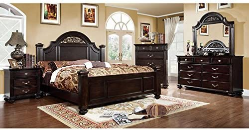 247SHOPATHOME bedroom-furniture-sets, Queen, Walnut