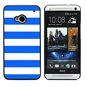 Graphic4You Color Stripes Pattern Design Hard Case Cover for HTC One (M7) (Royal Blue)