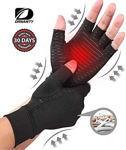 Compression Gloves for Arthritis Medical Copper Arthritis Gloves. Copper Infused Fit Gloves for Women/Men. Relieving Pain In The Treatment of Rheumatoid Arthritis, RSI Osteoarthritis, Tendinitis (XL)