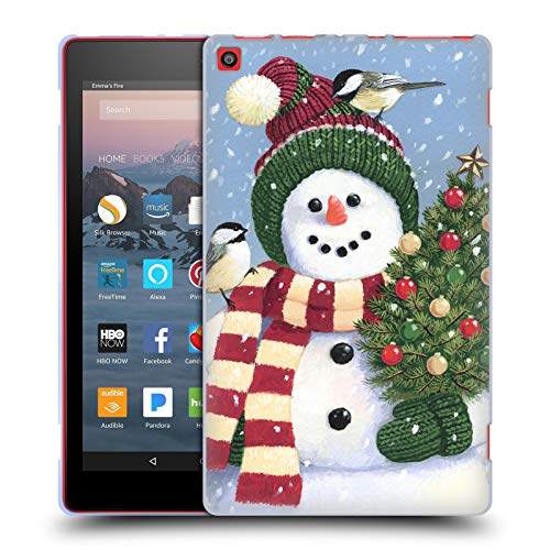 Official Christmas Mix William Vanderdasson Holding Snowman Soft Gel Case for Amazon Fire HD 8 (2017)