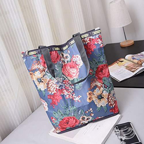 Shoulder Bags OCARDIAN Handbags Women 2019 Retro Fashion Floral Printed Canvas Tote Shopping Bags Large Capacity Canvas Beach Bag Dropship A23