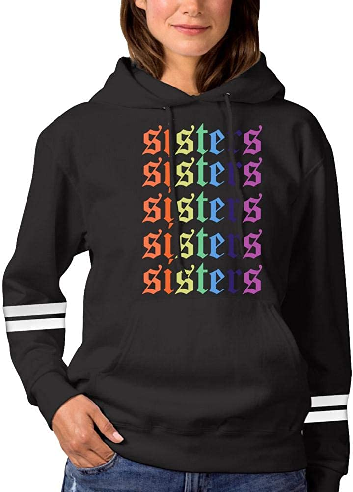 Ja-mes Char-les Rainbow Sis-ters Womens Fashion Hoodie Sweatshirts Sports Pullover Sweaters Cotton Croptop