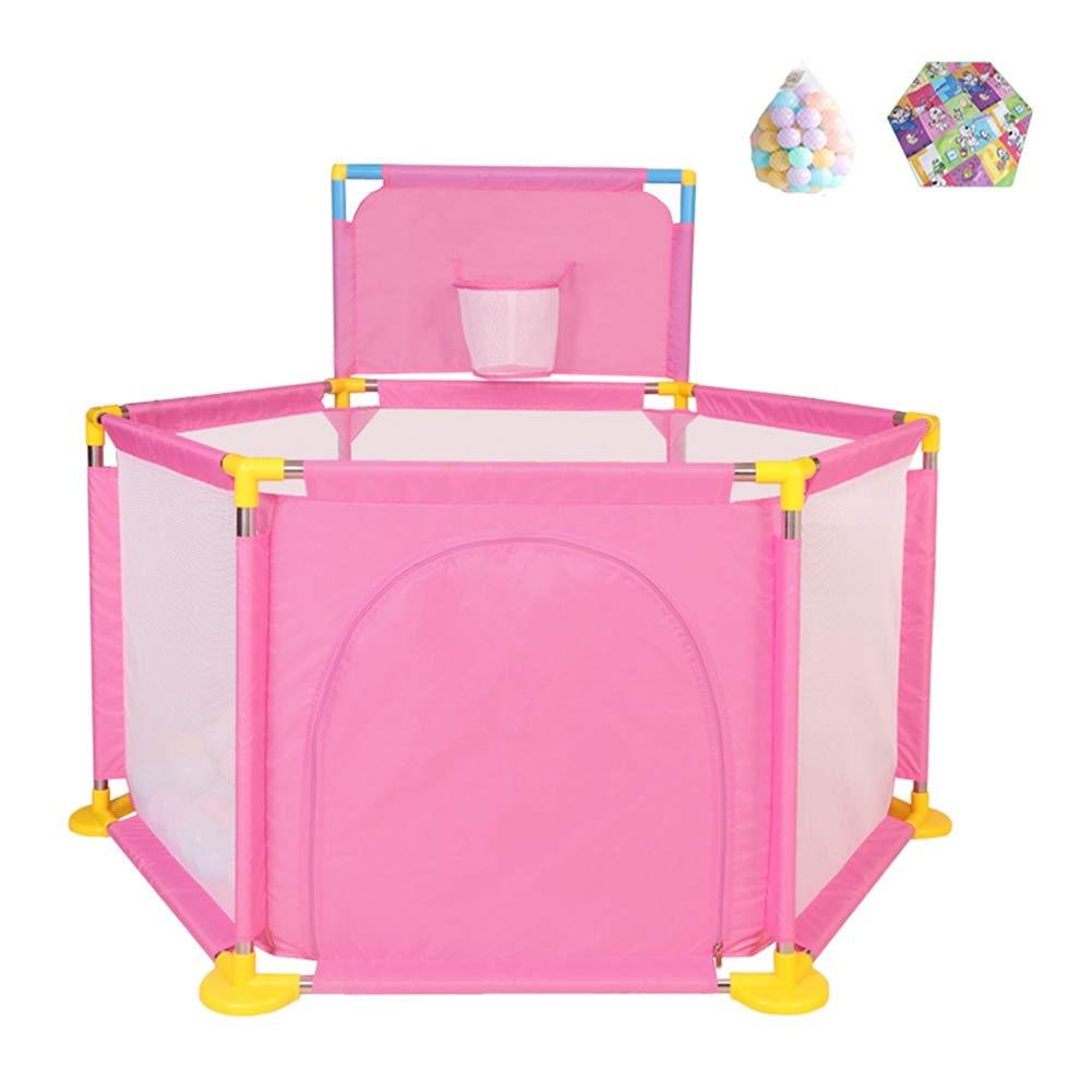 CHAXIA ベビーサークル 赤ちゃん の柵 家庭 ゲームハウス フェンス クロールマット ガードバー 安全性 安定した 任意2色 (Color : B, Size : 128x128x66cm) 128x128x66cm B B07TCX3SSD