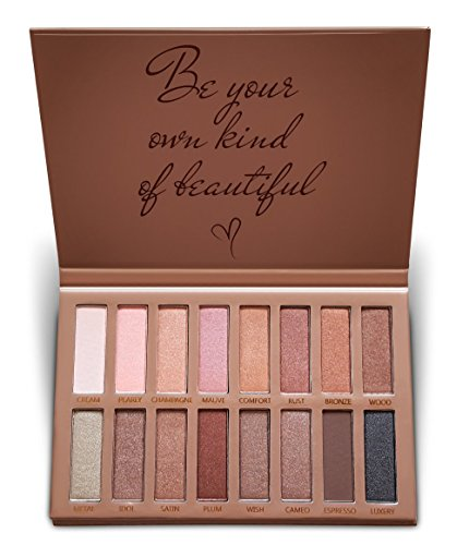 Best Pro Eyeshadow Palette Makeup - Matte Shimmer 16 Colors - Highly Pigmented - Professional Nudes Warm Natural Bronze Neutral Smoky Cosmetic Eye Shadows by Lamora (Image #7)