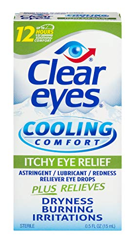 Clear Eyes | Cooling Comfort Itchy Eye Relief Drops | 0.5 FL OZ
