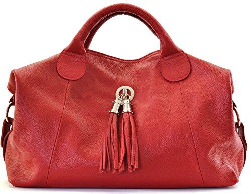 modèle et main main ROUGE scarlett 2018 à sac bandoulière porté DESTOCK grainé FONCE nouvelle collection cuir CUIR UtYqvv