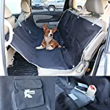 K-Cliffs Car Seat Cover for Pets Dogs Cats Heavy Duty Waterproof Hammock Car Seat Protector fits Cars Truck & SUV Black For Sale