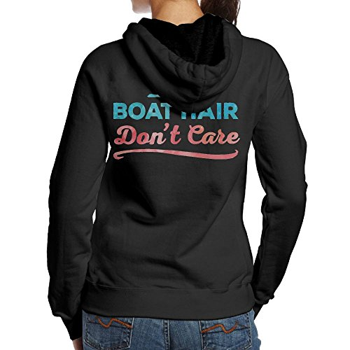 JingleBoo Boat Hair Don't Care Women's Hoodies Printed On The Back - Shops At Outlet Allen