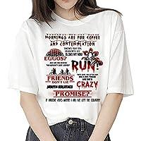 Camiseta Stranger Things Niña, Camiseta Stranger Things Mujer, Impresión T-Shirt Abecedario Camiseta Stranger Things…