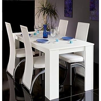 Maisondesign fr table à manger extensible console cityline 120 160 200 cm blanc