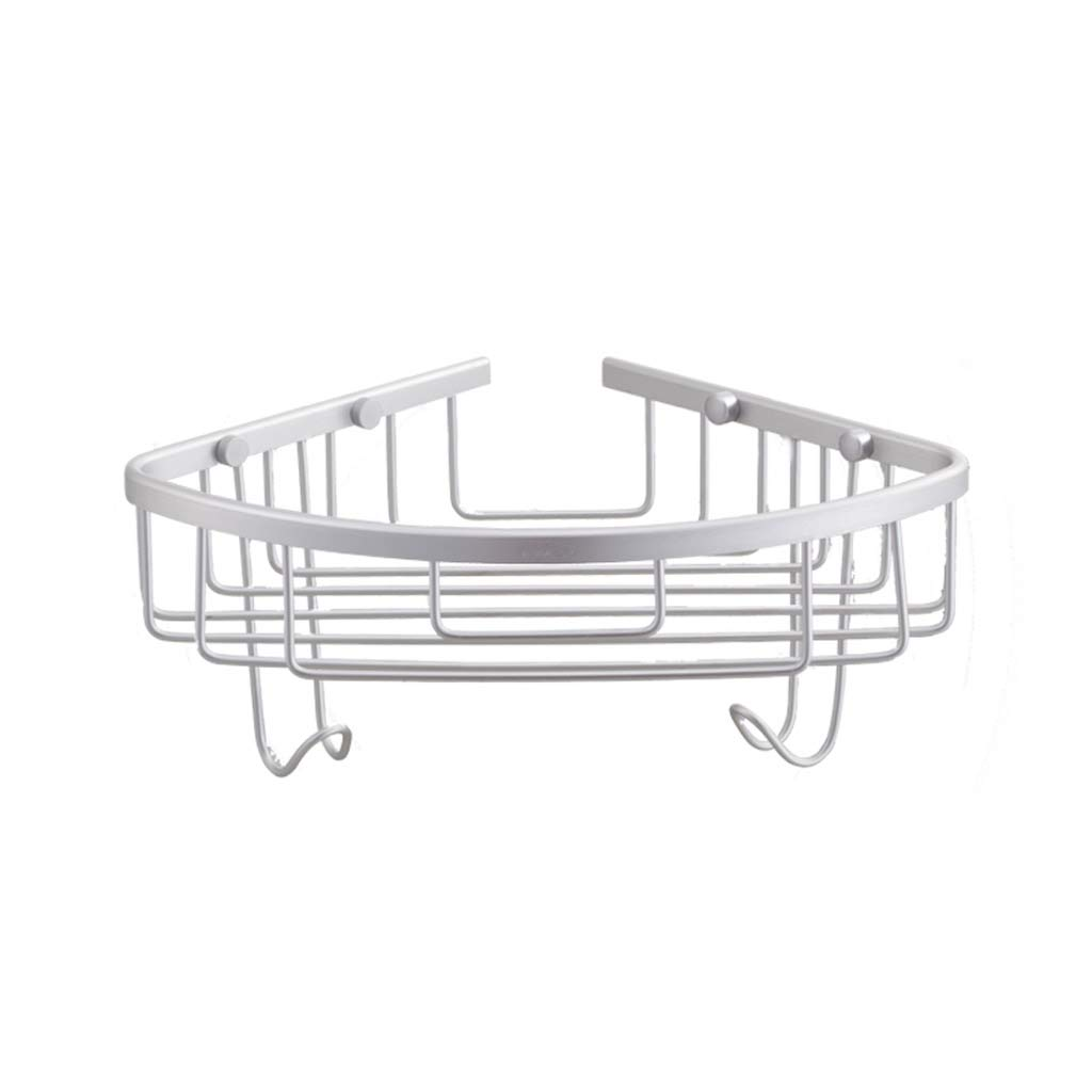 GAOYANG Bathroom Shelf, Shower Room Storage Rack, Washroom Corner Basket, Tripod Hanging Basket Multifunction, Stainless Steel (Size: 30519565mm)
