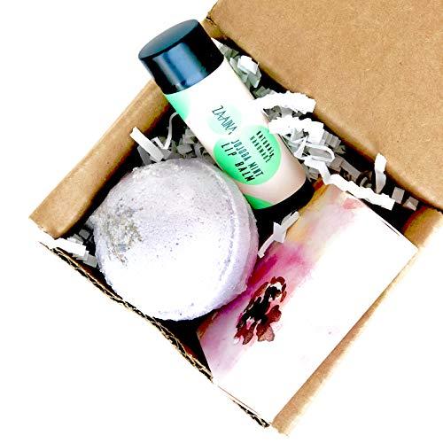 Zaaina Mini Spa Gift Set Bath Bomb Soap Lip Balm