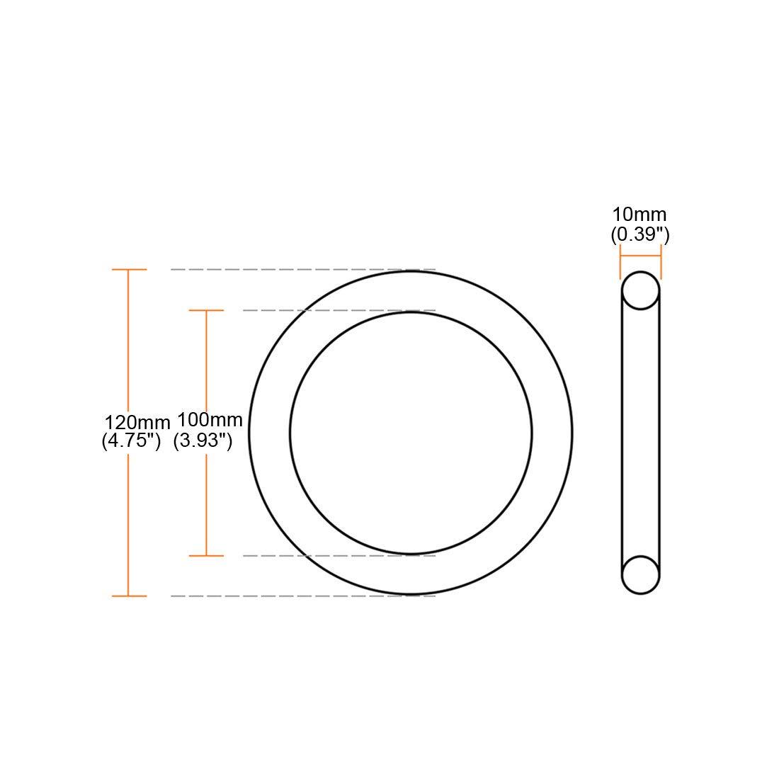 sourcing map hebilla de anillo de metal multiprop/ósito soldado 120 mm x 100 mm x 10 mm para accesorios de bricolaje anillo de mano de hardware