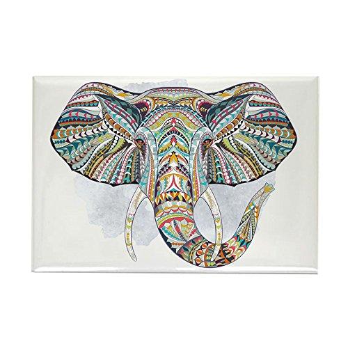 (Rectangle Magnet Patterned Elephant)