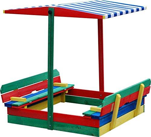 Sandkasten-mit-Sitzbank-und-Dach-bunt