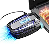 cooling vacuum - llano Super Laptop Cooler, Exhaust Radiator, Vacuum Fan Laptop Cooler, Ajustable Wind Speed, Cooling Gaming Mate with Temperature LED Display for Gaming Notebooks and PCs …