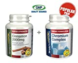 My review of SimplySupplements Cinnamon 2000mg 120 tablets + Chromium Complex 120 tablets | For a healthy & normal blood sugar levels