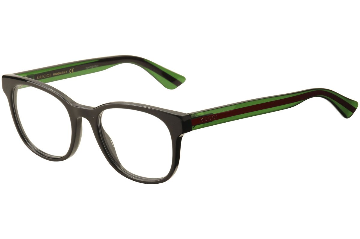 Gucci GG 0005O 006 Black Plastic Square Eyeglasses 53mm by Gucci