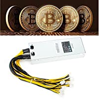 FUT Miners Mining Machine Platinum Antminer APW3 Power Supply 1600W for Bitcoin Miner S7 S9 / 10 Connectors
