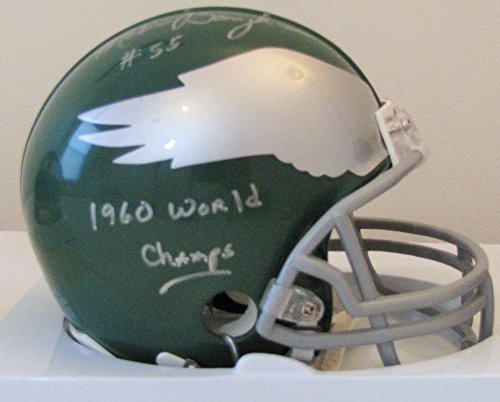 Helmet Champs Mini Riddell (Maxie Baughan Philadelphia Eagles Autographed Mini Helmet With 1960 World Champs Inscription)