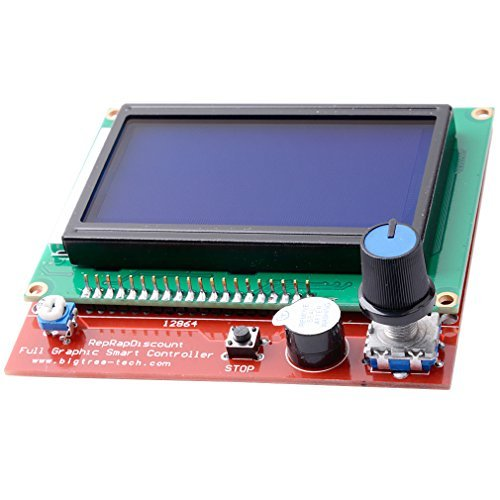 FICBOX® LCD Display Smart Controller W/ Adapter For RAMPS1.4 Reprap 3D Printer by FicBox