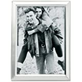 Lawrence Frames Brushed Silver Plated 5 by 7 Metal Picture Frame