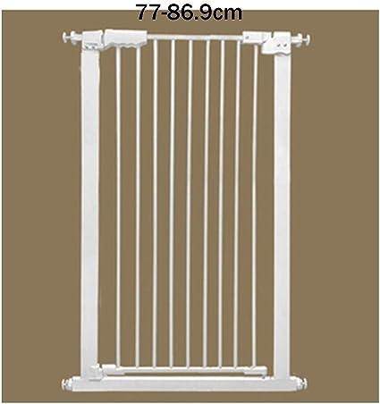 LSRRYD Barrera Extensible Perros Plástico ABS Barrera De Puerta De Seguridad Puerta De Seguridad Rejilla para Escaleras Balcón Extraíble Y Red De Seguridad para Escaleras (Size : 77-86.9x110cm): Amazon.es: Hogar