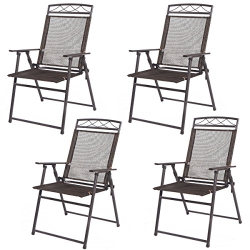 Excellent Best Choice Products Set Of 2 Folding Chairs Sling Bistro Bralicious Painted Fabric Chair Ideas Braliciousco
