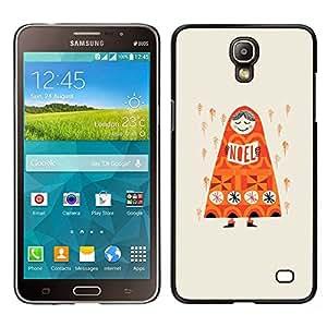 "Pulsar Snap-on Series Teléfono Carcasa Funda Case Caso para Samsung Galaxy Mega 2 , Lluvia anaranjado profundo Rusia Dibujo"""