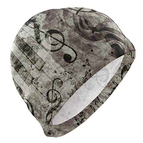 Loveful Personalized Abstract Vintage Piano Rose Swim Cap Superior Polyester Cloth Fabric Bathing Cap Water Resistant & Durable Swimming Hat for Water - Cap Nu Spandex