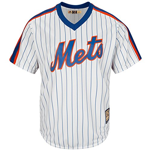 Majestic New York Mets Home Cool Base Cooperstown Men's Jersey (X-Large)