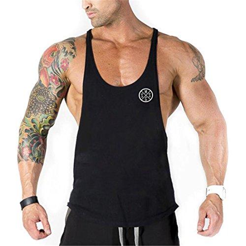 YeeHoo Deportivo Gym Camisetas Sin Manga Tank Tops de Tirantes Hombre Suelto Chaleco Fitness Gimnasio Algodón: Amazon.es: Ropa y accesorios
