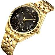 [Sponsored]Watches Men Luxury Brand Men Sports Watches Waterproof Full Steel Quartz Men's Gold...