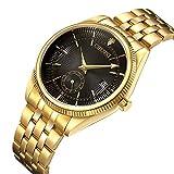 Watches Men Luxury Brand Men Sports Watches Waterproof Full Steel Quartz Men's Gold Black Watch