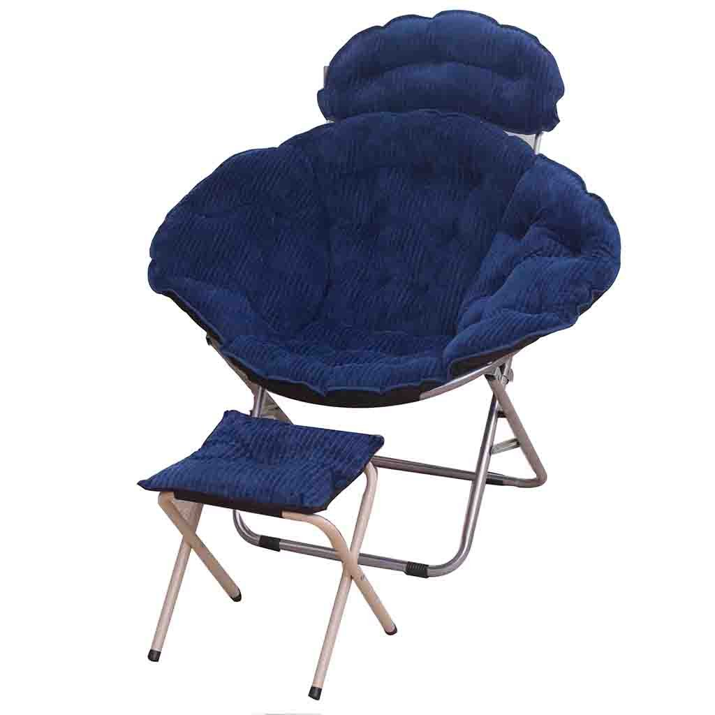 1  YD Moon Chair - Folding Chair Round Steel Frame Folding Portable   6 color (color   4 )