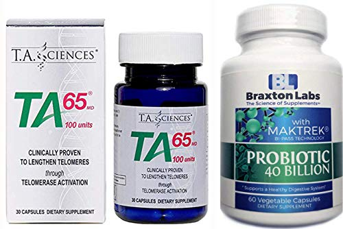 T.A. Sciences TA-65 30 Capsules Includes Free Bottle of Braxton Labs Probiotic 60 Vegetable Caps