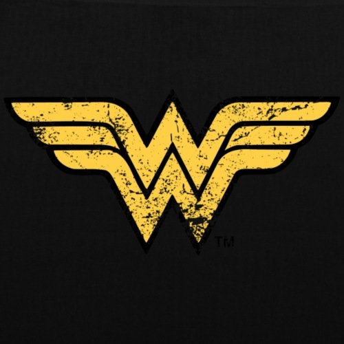 Spreadshirt DC Comics Justice League Wonder Woman Logo Stoffbeutel Schwarz