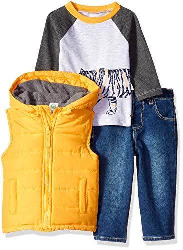 Little Me Baby Boy's Jacket Set Outerwear, tiger citrus/denim, 18 Months