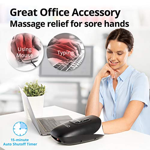 Daiwa Felicity Hand Massagers Electric Compression Massage ACU Palm Cordless with Heat Pain Relief (Regular)