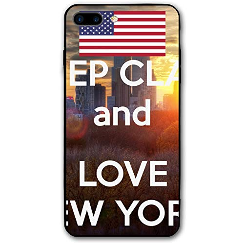 iPhone 7 Plus Case/iPhone 8 Plus Case Love New York Soft Rubber Cover Lightweight Slim Printed Protective Case (Puzzle Electronic York New)
