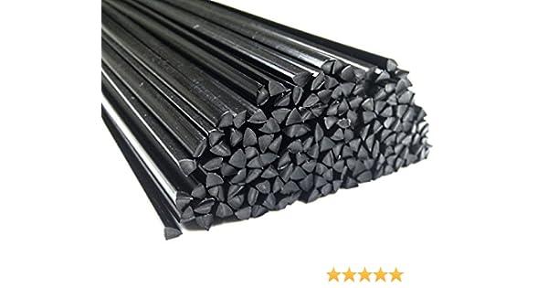 Alambre de soldadura de plástico ABS 6mm Triangulares Negro 25 barra: Amazon.es: Coche y moto