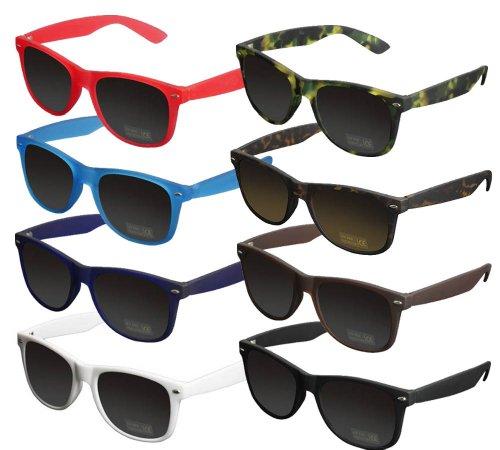 Masterdis Likoma Shades Sonnenbrille Sunglasses (Gespiegelt Clubmaster Sonnenbrille)