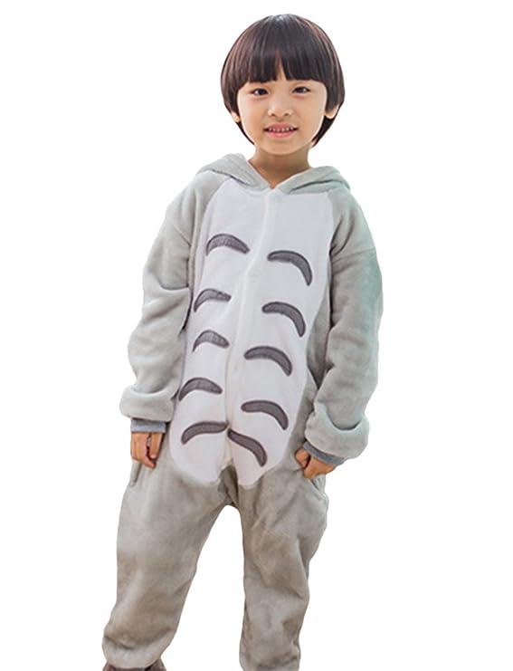 MissFox Kigurumi Pijamas Unisexo Niños Traje Disfraz Niños Animal Pyjamas Totoro: Amazon.es: Ropa y accesorios