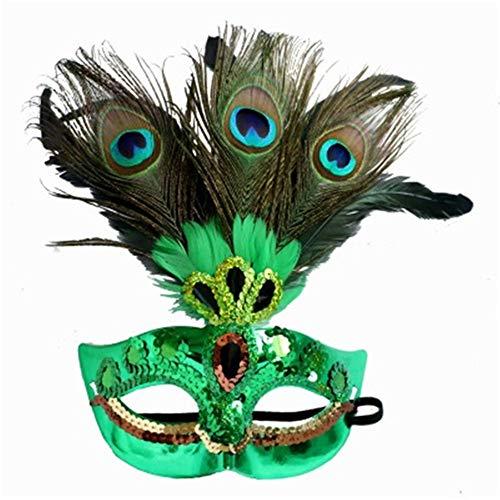 Peacock Feather Mask Christmas Mask Halloween Mask Masquerade