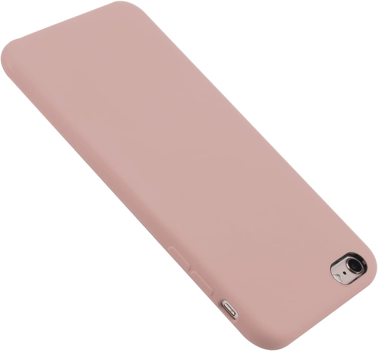 iPhone 6 Plus/6s Plus Case Liquid Silicone Gel Rubber Case,Full Body Protection Shockproof Cover Case with Soft Microfiber Cloth Lining Cushion for Apple iPhone 6P/6sP, (Pink)