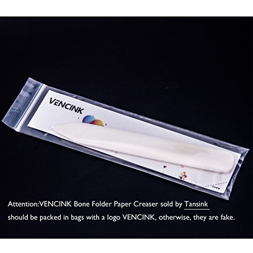 VENCINK Genuine Bone Folder Paper Creaser Set Folding Scoring Burnishing Crafting Scrapbooking Tool for Bookbinding,Paper /& Leather Crafts,Card Making and Office Supplies